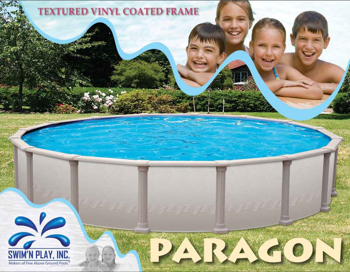 paragon above ground pool by swim 39 n play aquacraft pools and spas